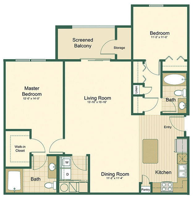 Tidewater floor plan